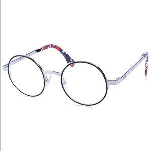 Fendi Rx Palladium Round Eyeglasses